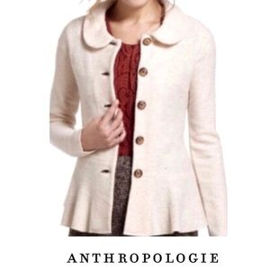 Anthro Guinevere Swing 100% wool Jacket Sweater